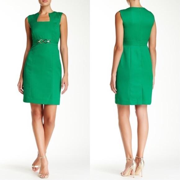 4145ec4d6ae8 Tahari Dresses   Faux Belt Dress In Emerald Nwt   Poshmark